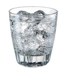 Water with ice. With clipping path