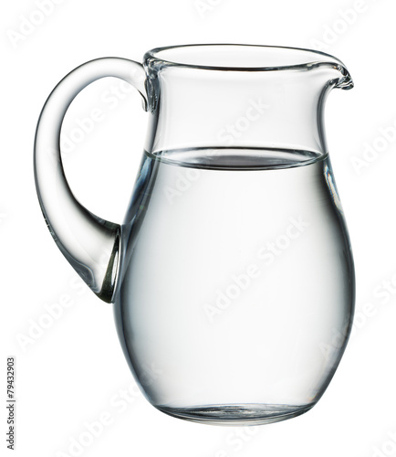 Aluminium Water Water pitcher isolated on white. With clipping path