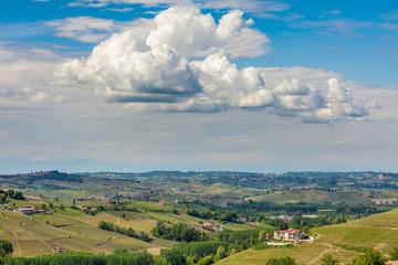 Green hills of Piedmont in spring.