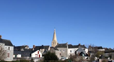 le village du bourg d'iré, maine et loire