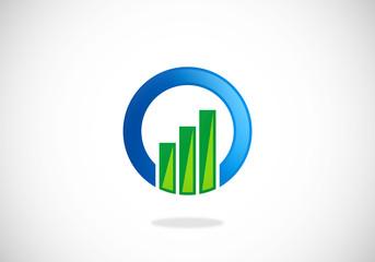 graph round finance business vector logo