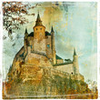 Fairy castle Alcazar, Segovia, Spain, artistic picture