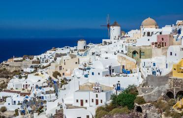 Oia village - landmark of Santorini island, Greece