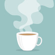 Coffee cup with smoke float up