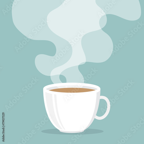 Coffee cup with smoke float up - 79437529