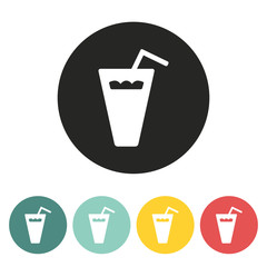 Plastic glass icon.