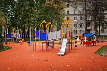 Colorful children playground equipment