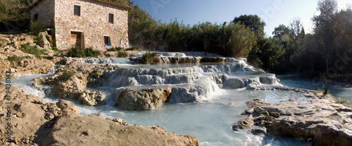 Leinwanddruck Bild Saturnia Hot Spring, Tuscany