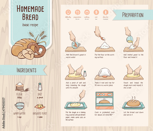 Homemade bread recipe - 79438357