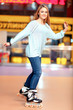 Beautiful girl on the rollerdrome - 79440143