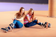 Beautiful girls on the rollerdrome - 79440182