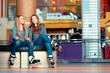 Beautiful girls on the rollerdrome - 79440376