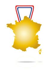 Medaille carte de france