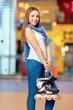 Beautiful girl on the rollerdrome - 79440570