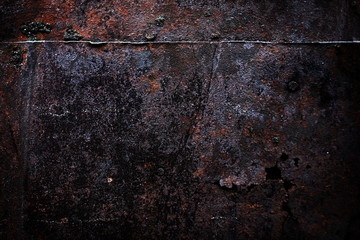 rusty worn and scratched metallic background
