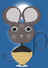 Pequeño ratón peonza