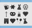 Abstrakte Symbole zum Oktoberfest - 79441560