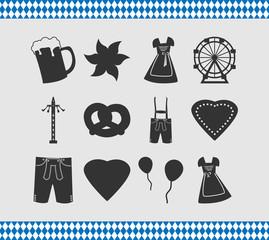 Abstrakte Symbole zum Oktoberfest