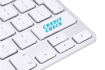 Credit check button on keyboard