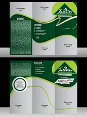 tri fold interior designer brochure