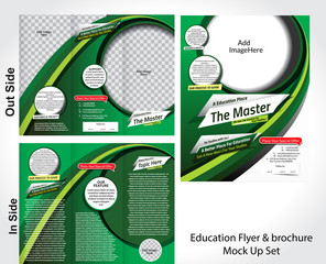 Education Flyer & Brochure Mock Uo Set