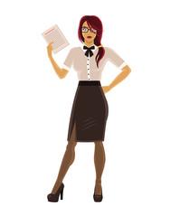 Vector secretary illustration