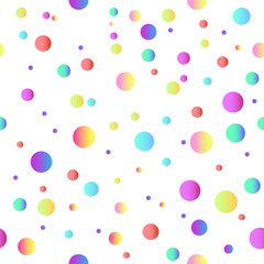 colored balls on a white background