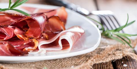 Portion of sliced Ham