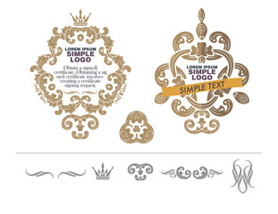 vector set: calligraphic design elements and wedding elements.