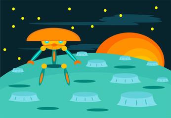 Alien Robot Warrior from the Sun