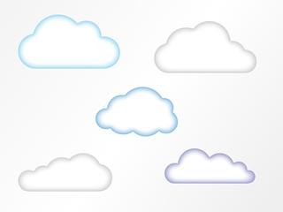 Sanfte Wolkensymbole mit Effekt