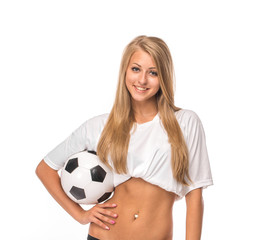 Female model. Soccer.