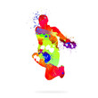 Leinwanddruck Bild - Abstract dancer