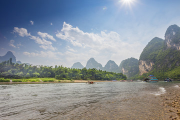 sky,river and mountains in Guilin