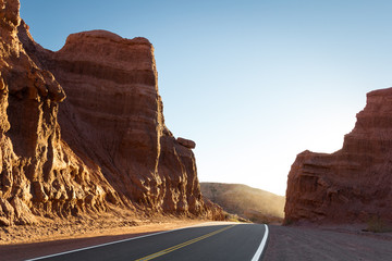 Road through of Canyons