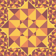 Retro pattern of geometric shapes of triangles..