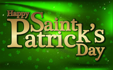 Happy Saint Patrick's day background, vector
