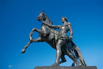 Sculpture of Horse Tamer, Anichkov bridge, Saint Petersburg, Rus