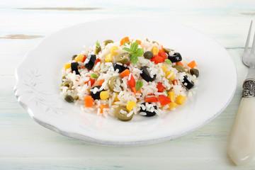 insalata di riso con verdure