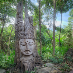 Old ancient buddha statue