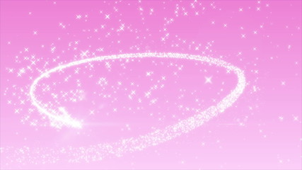 キラキラハートとピンク