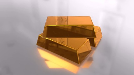 Gold Goldbarren Edelmetall Edelmetalle Luxus Video