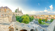Leinwanddruck Bild - Budapest, Fischerbastei, Panorama über Budapest,