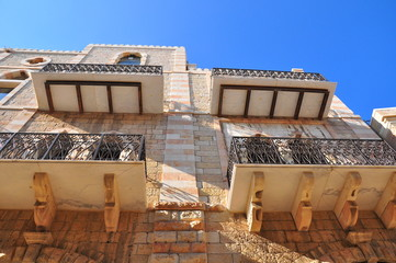 Old, orient styled building in Jerusalem.