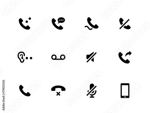 Handset icons on white background. - 79453336