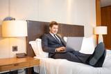Fototapety Businessman in the luxury hotel