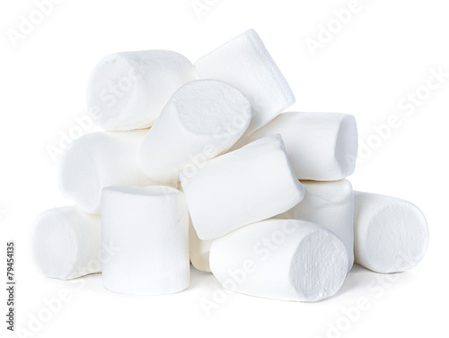 Fototapeta Marshmallow isolated on white background