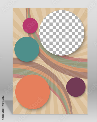Plakat Vector brochure or magazine cover template