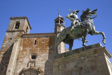 Francisco Pizarro statue, Trujillo, Caceres, Extremadura, Spain