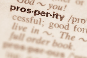 Dictionary definition of word prosperity